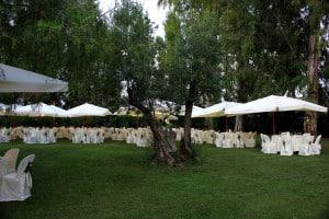 Ricevimento nel parco alberato, Masseria La Morella
