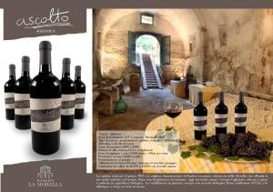 Cantina del '700 durante una degustazione di vino Ascolto, Agriturismo La Morella