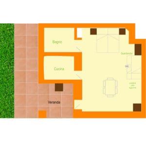 appartamento in agriturismo arancio