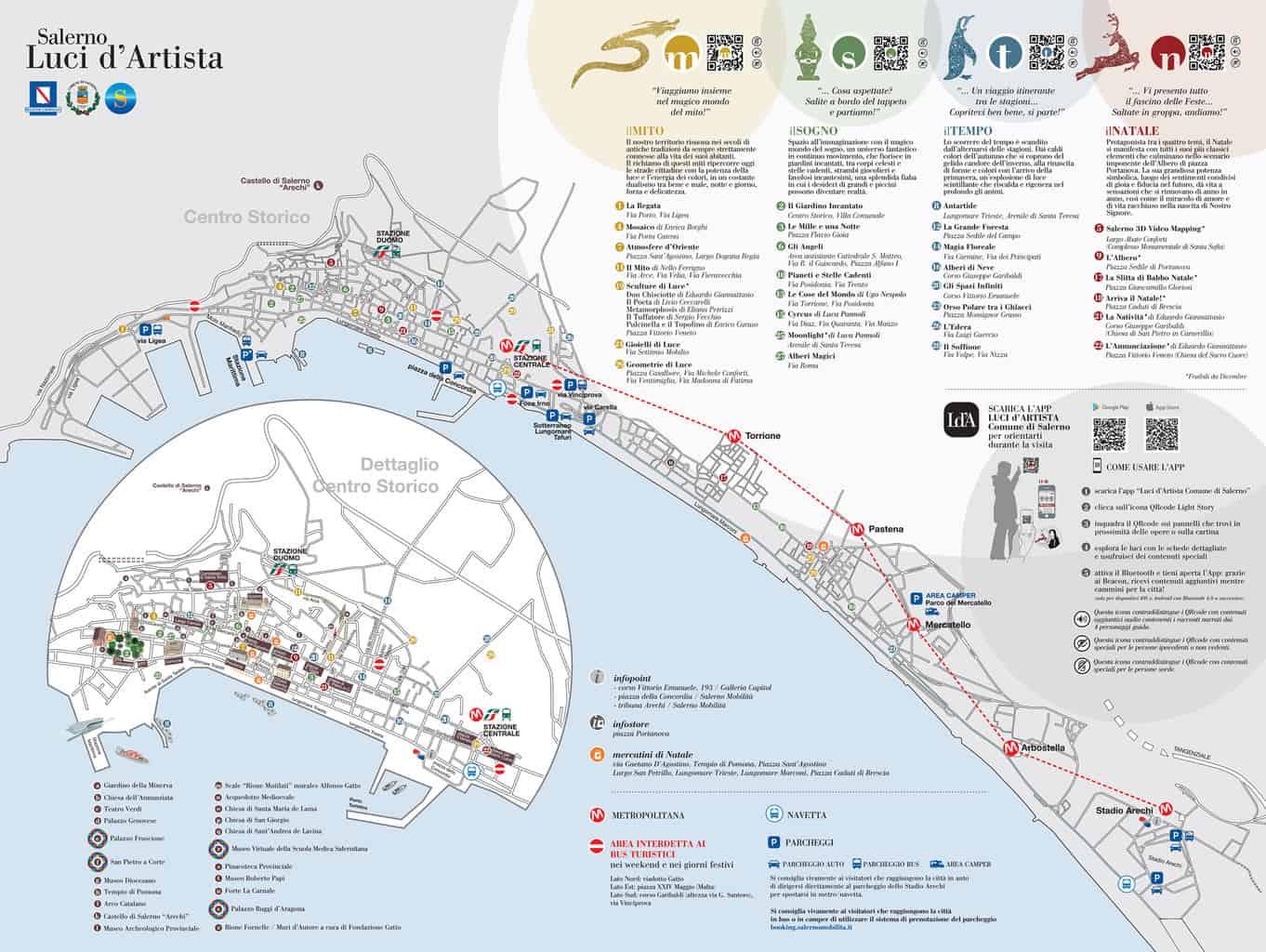 Mappa di Luci d'Artista