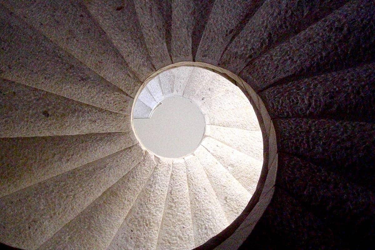 La scala della Certosa di Padula
