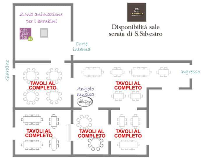Mappa aggiornata disponibilità ristorante