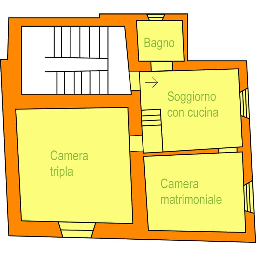 appartamento in agriturismo albicocca